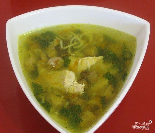 Суп из домашней курицы