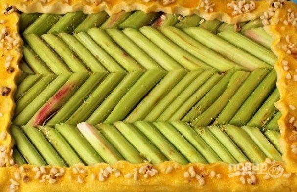 Пирог с ревенем открытый