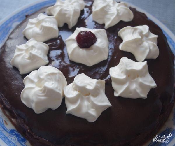 Вишневый торт со сливками
