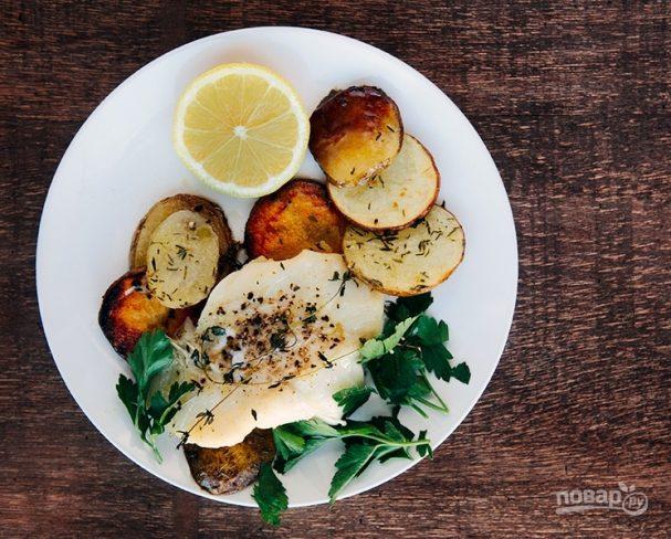 Пряная треска с хрустящим картофелем