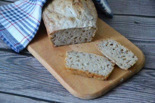 Диетический хлеб без дрожжей
