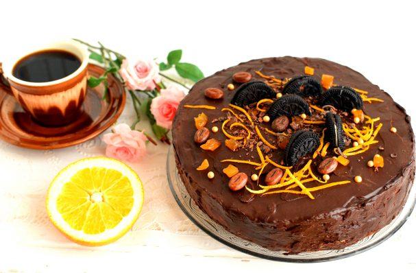 Шоколадный торт «Мокко-апельсин»