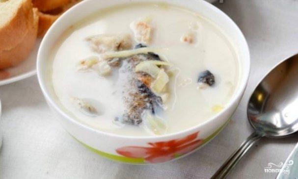Латвийский молочный суп с рыбой