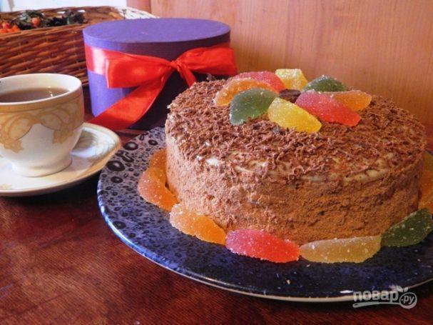 Быстрый торт на сковороде с заварным кремом