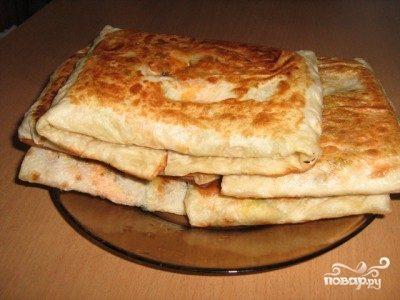 Шаурма с колбасой и сыром