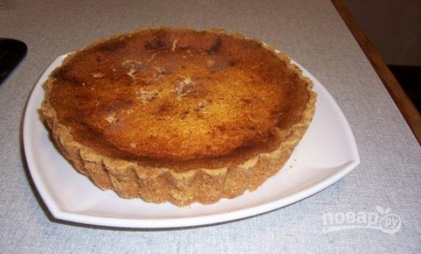 Рассыпчатый пирог с творогом