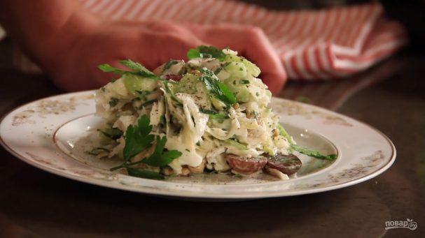 Хрустящий салат с сельдереем