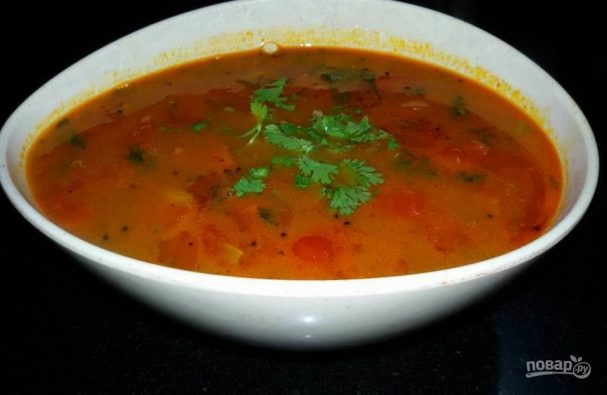 Томатный суп по-индийски