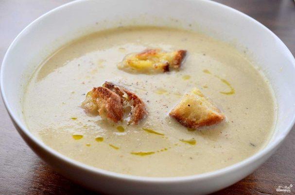 сырный крем-суп рецепт с плавленным сыром и цветной капустой