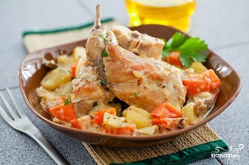 как приготовить жаркое из кролика с картошкой в мультиварке