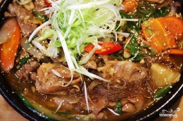 Курица с овощами по-корейски
