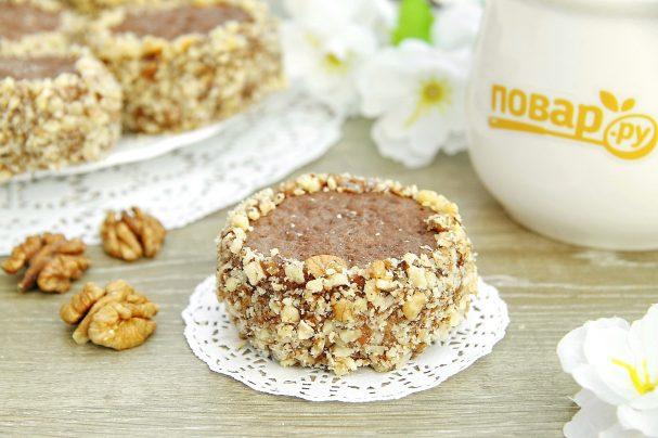 Шоколадное печенье с вареной сгущенкой