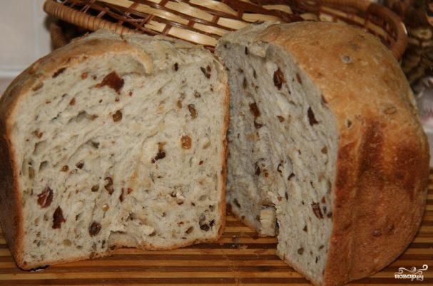 Хлеб с сухофруктами в хлебопечке