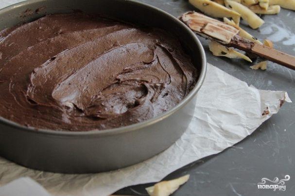 Грушевый шоколадный пирог