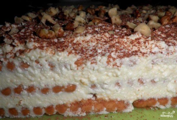 Творожный торт на скорую руку
