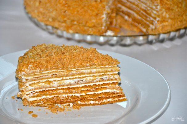 торт медовый заварной рецепт