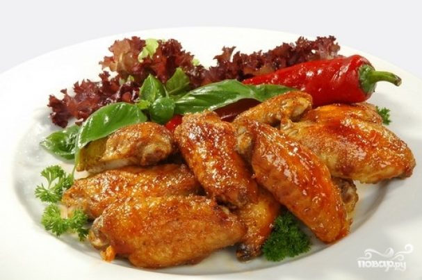 Курица с аджикой и медом
