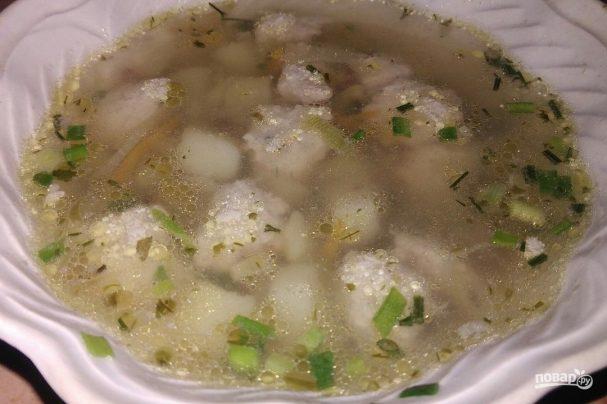 Суп с фрикадельками и гречневой крупой