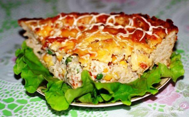 Куриный пирог с гавайской смесью