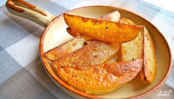 Картофель по-деревенски дольками