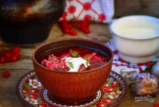борщ украинский пошаговый рецепт приготовления