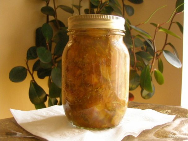 Варенье из кабачков в сиропе