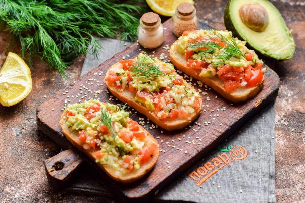 Бутерброды с гуакамоле