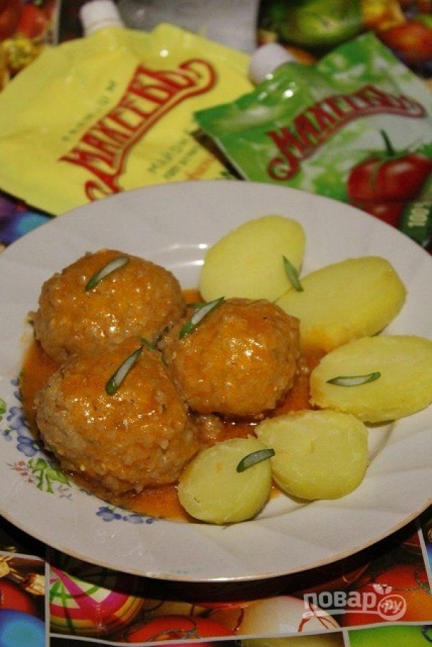 Рыбные тефтели в томатно-майонезном соусе