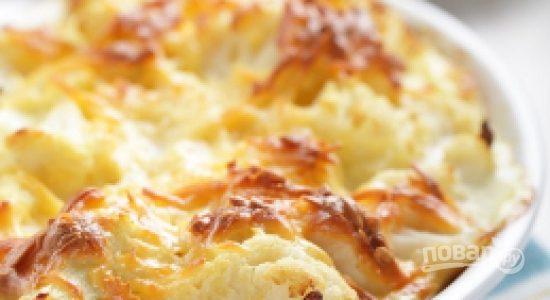 Цветная капуста с сыром (запеченная в духовке)