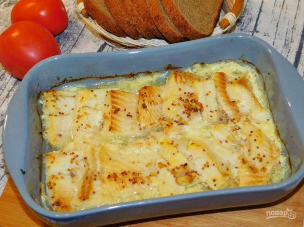 Рыба, запеченная в горчичном соусе