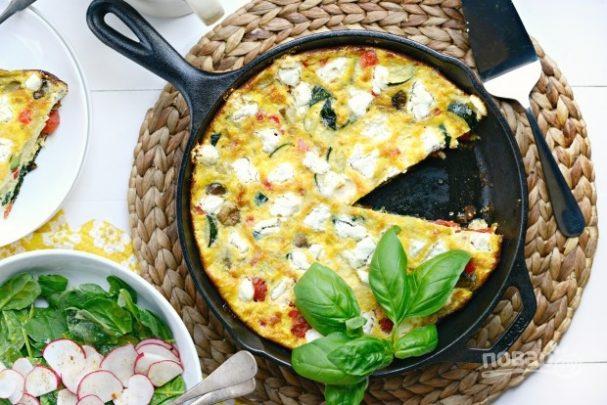 Фриттата с овощами и сыром