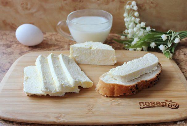Домашний сыр из кефира и яиц