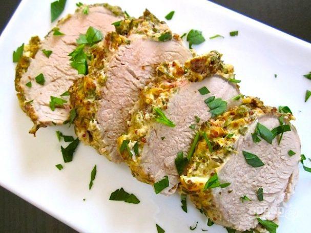 Свиная корейка с горчицей в духовке