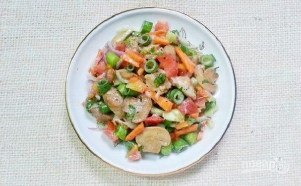 Рецепт грибного салата