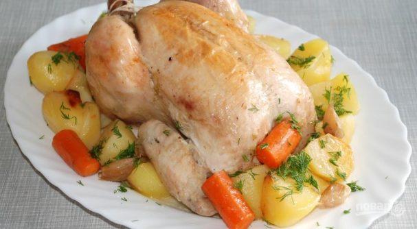 Рецепт запеченной курицы с картофелем