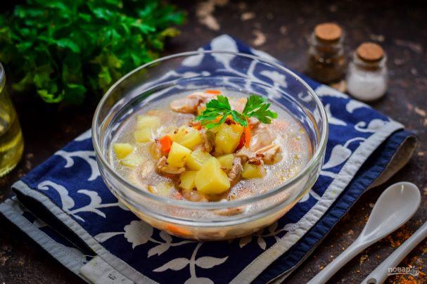Суп из куриных бедрышек