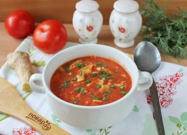 Китайский томатный суп