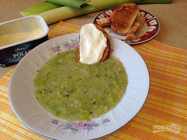рецепт лукового супа с пореем из время обедать