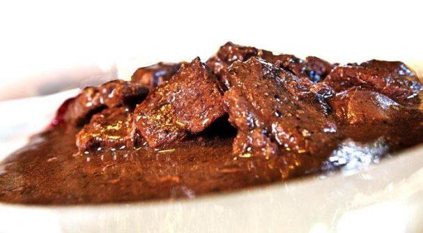 Мясо марала на сковороде