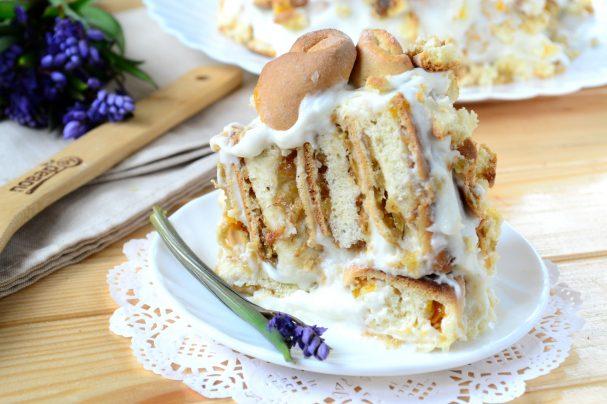 рецепт трухлявый пень торт