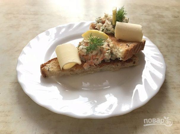 """Рыбный салат """"Раковые шейки"""""""