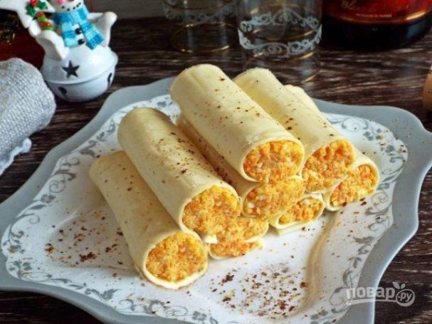 Закусочные сырные трубочки