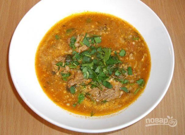 Острый грузинский суп харчо рецепт