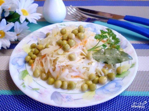 Салат к утке с яблоками