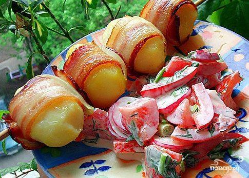 Картофель на шампурах