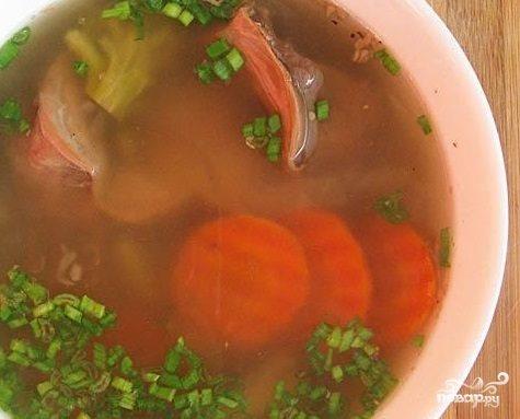 Суп из желудков индейки в мультиварке