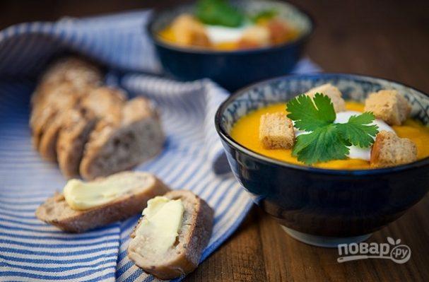 Суп-пюре с морковью и рисом