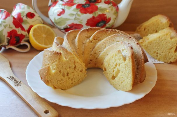 Лимонный кекс без яиц
