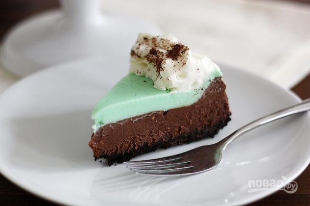 Шоколадный чизкейк с мятой