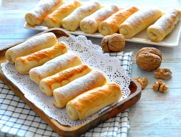 """Печенье """"Сигареты"""" с орехами"""